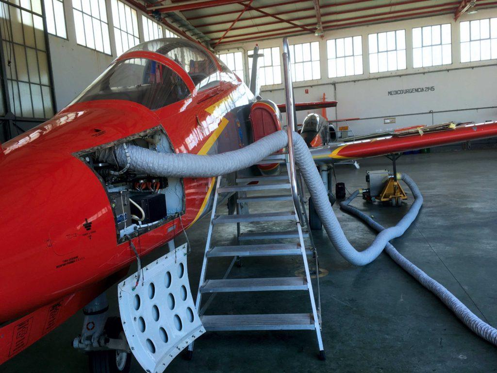 Imagen de proceso de control de la humedad del aire y refrigeración en aviones | Fisair